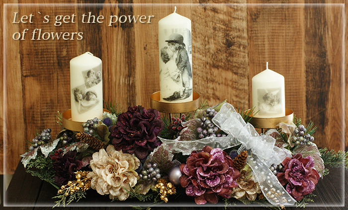 Let`s get the power of flowers