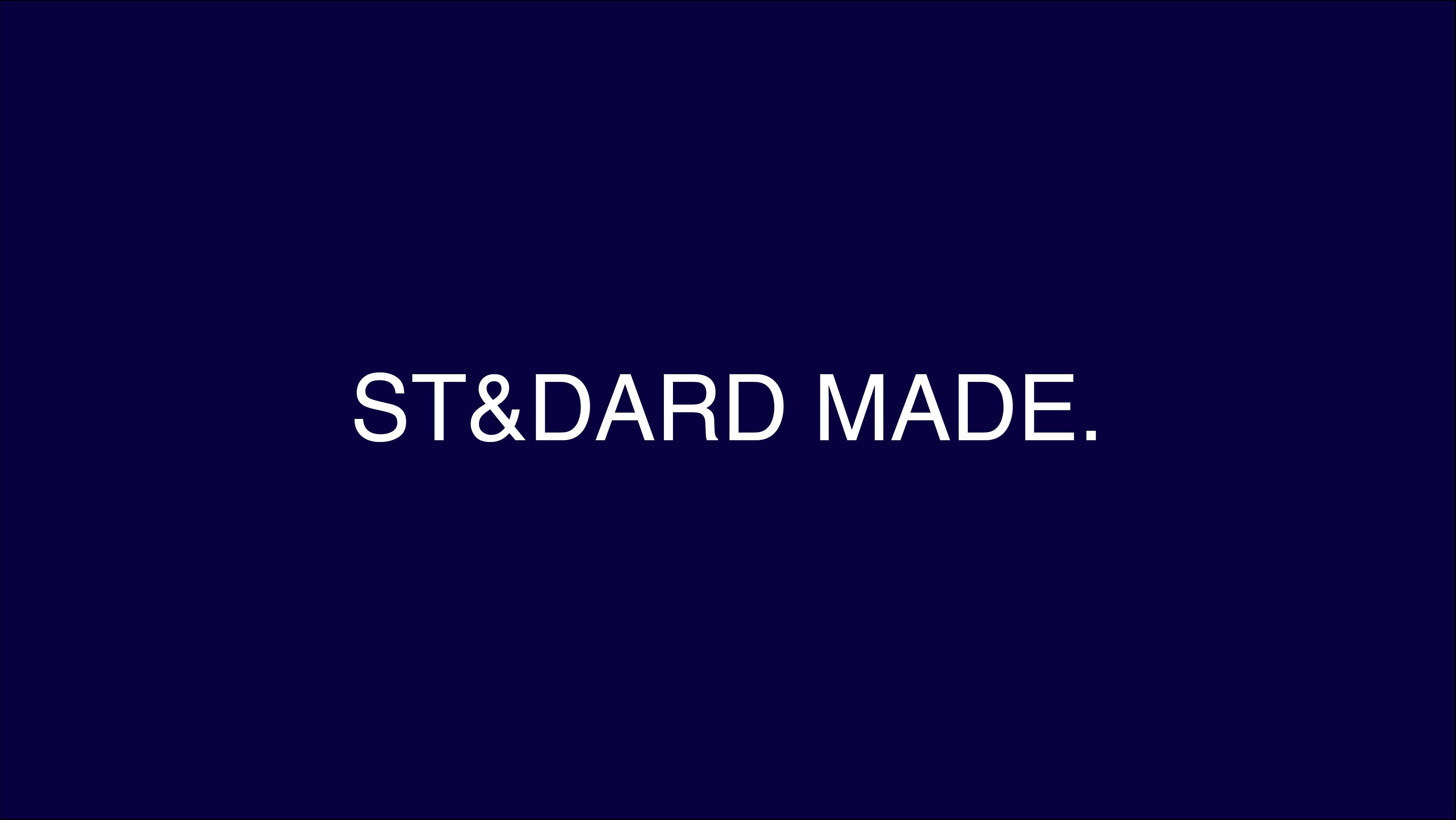 ST&DARD MADE. Online Store