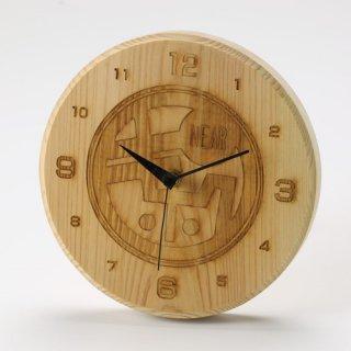 【FSC認証商品】尾鷲ヒノキ製 木目も鮮やかな時計|尾鷲ひのき時計(キホクニヤ)|ウッドメイクキタムラ