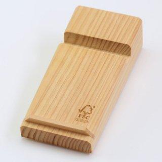 【FSC認証商品】尾鷲ヒノキ製 木目鮮やかなアイデアツール!|スマホスタンド小|ウッドメイクキタムラ