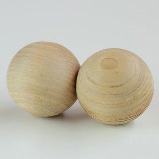 香り高い尾鷲檜(ひのき)を丸く削った|マグネット2個|ウッドメイクキタムラ