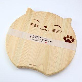 尾鷲ヒノキの香りと美しい木目の可愛い猫のデザイン|カッティングボード ネコ|KOSHIKARI