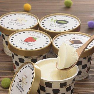 生クリームをたっぷり使った牧場アイス、味4種類|大内山アイスクリームセット|君家冷菓