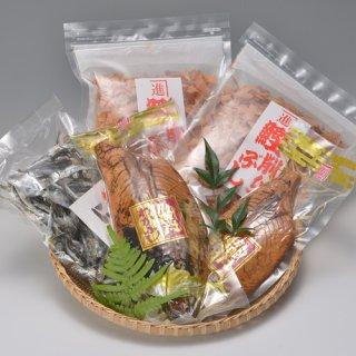 地元で揚がったカツオを使用した生節、削り節と煮干しのセット|かつお節セット|カネ進商店