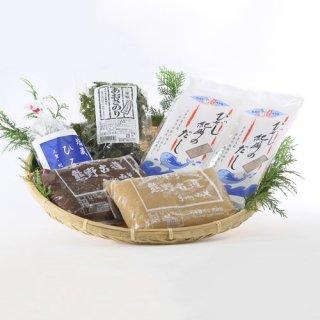 東紀州の特産品を詰合せ!潮の香りが楽しめるお味噌汁が作れる|東紀州のおふくろの味セット|キホクニヤ