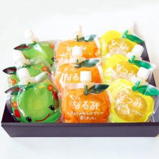 暑い季節にぴったり!爽やかな柑橘をパウチタイプのゼリーに|柑橘ジェルセット|夢工房くまの