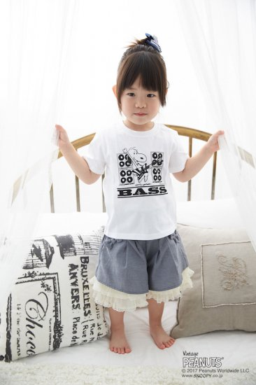 NO_33 / BASS KIDS TEE (WHITE)