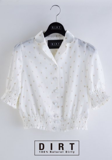 COMPASS ROSE PUFF SLEEVE BLOUSE