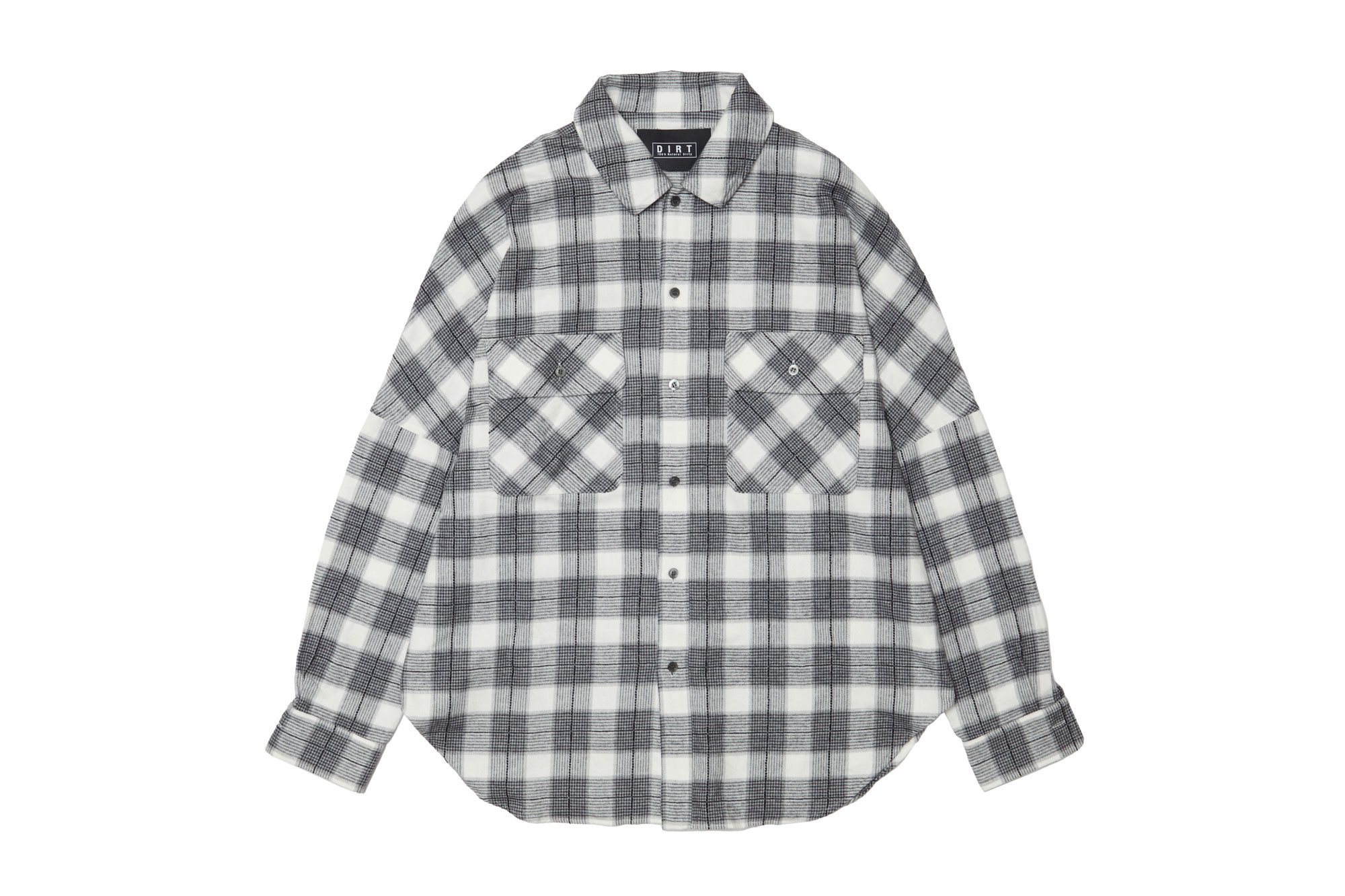<img class='new_mark_img1' src='https://img.shop-pro.jp/img/new/icons14.gif' style='border:none;display:inline;margin:0px;padding:0px;width:auto;' />2020AW collection Chenille Yarn Flannel Shirt MONOCHROME
