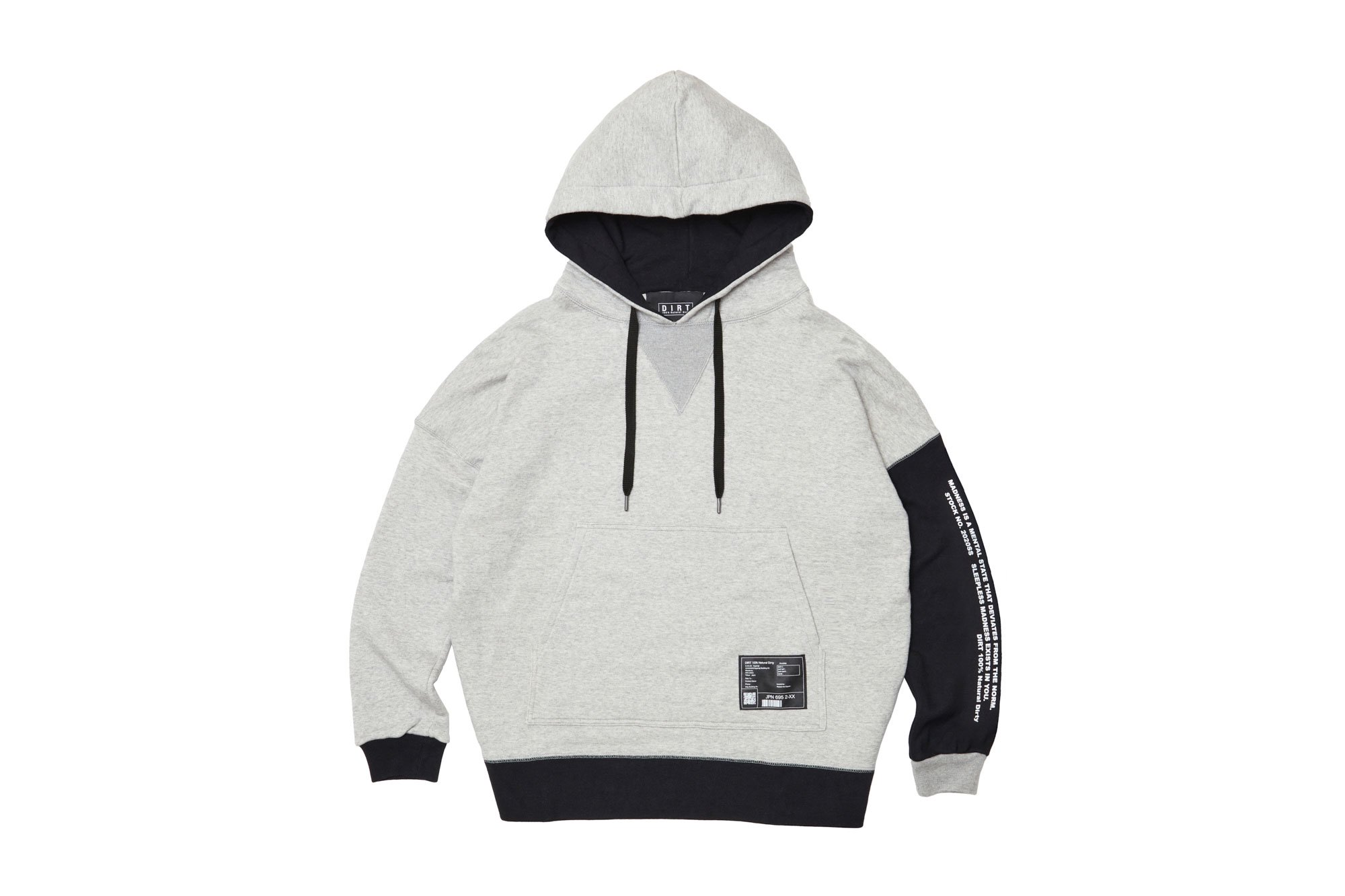 <img class='new_mark_img1' src='https://img.shop-pro.jp/img/new/icons14.gif' style='border:none;display:inline;margin:0px;padding:0px;width:auto;' />2020AW collection Bicolor Hoodie GR