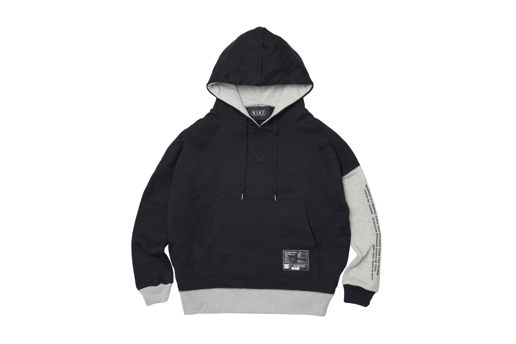 <img class='new_mark_img1' src='https://img.shop-pro.jp/img/new/icons14.gif' style='border:none;display:inline;margin:0px;padding:0px;width:auto;' />2020AW collection Bicolor Hoodie BL