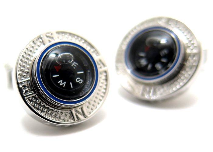 TATEOSSIAN(タテオシアン) メカニカルコンパスプラットフォームカフス(ロジウム) (カフスボタン/カフリンクス) - ブランド