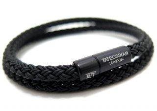TATEOSSIAN(タテオシアン) ラバーケーブルブレスレット(ブラック) - ブランド