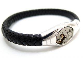 TATEOSSIAN(タテオシアン) バーゼルスケルトンシルバーブレスレット(ブラック) - ブランド