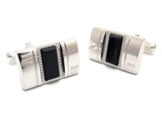 DAKS(ダックス) レクタングルテーブラーオニキスカフス (カフスボタン/カフリンクス) - ブランド