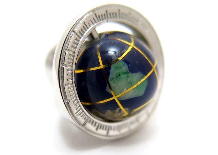 TATEOSSIAN(タテオシアン)地球儀シルバーピンズ(タイタック/ラペルピン) - ブランドの画像