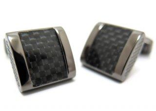 TATEOSSIAN(タテオシアン) カーボンファイバー フリーウェイカフス(ブラック)(カフスボタン/カフリンクス) - ブランド