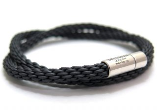 TATEOSSIAN(タテオシアン)シルバーポップゴンマブレスレット(ダークグレイ) - ブランド