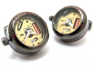 TATEOSSIAN(タテオシアン)メカニカル パノラマ時計カフス(ガンメタル)(カフスボタン/カフリンクス) - ブランド