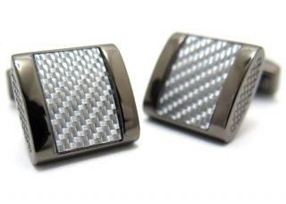 TATEOSSIAN(タテオシアン) カーボンファイバー フリーウェイカフス(グレイ)(カフスボタン/カフリンクス) - ブランド