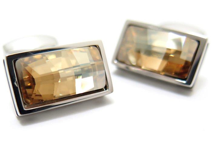TATEOSSIAN(タテオシアン)クリスタルバゲットスワロフスキーカフス(ゴールド)(カフスボタン/カフリンクス) - ブランドの画像