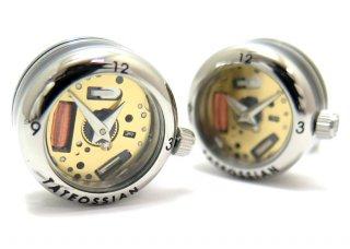 TATEOSSIAN(タテオシアン)メカニカル パノラマ時計カフス(ロジウム)(カフスボタン/カフリンクス) - ブランド