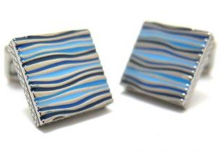 TATEOSSIAN(タテオシアン) チタニウムグラフィックオンダカフス(ブルー)(カフスボタン/カフリンクス) - ブランド