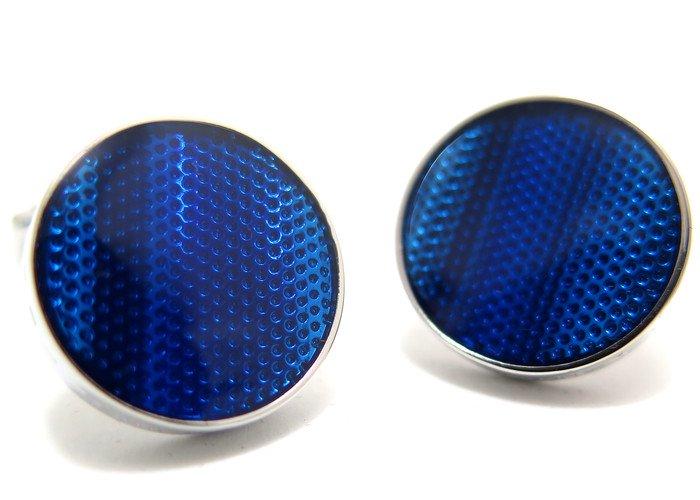 THOMPSON (トンプソン)  テクスチャードウェーブカフス(ブルー) (カフスボタン/カフリンクス) - ブランドの画像