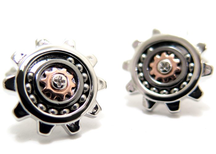THOMPSON (トンプソン)  コグギアカフス(ロジウム、ガンメタル、ローズゴールド) (カフスボタン/カフリンクス) - ブランドの画像