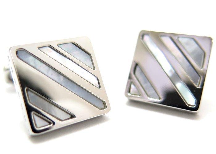 THOMPSON (トンプソン)  スラッシュカフス(白蝶貝、メタル) (カフスボタン/カフリンクス) - ブランドの画像