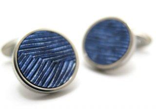 TATEOSSIAN(タテオシアン) チタニウムレザーカフス(メタリックブルー)(カフスボタン/カフリンクス) - ブランド