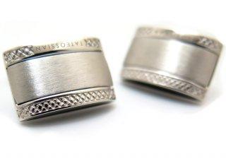 TATEOSSIAN(タテオシアン)  シグニチャDシェイプシルバーカフス(ロジウム)(カフスボタン/カフリンクス) - ブランド