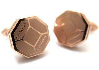 MONTEGRAPPA(モンテグラッパ) トリプディオカフス(IPローズゴールド)(カフスボタン/カフリンクス) - ブランド