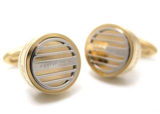 MONTEGRAPPA(モンテグラッパ) グリッドカフス(IPイエローゴールド、スティール)(カフスボタン/カフリンクス) - ブランド
