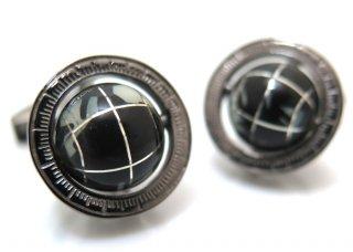 TATEOSSIAN(タテオシアン)  地球儀カフス(オニキス・ブラックロジウム)世界限定120セット(カフスボタン/カフリンクス) - ブランド