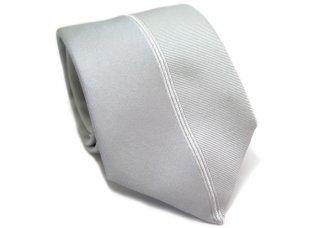 TINO COSMA (ティノコズマ)センターライン シルク ネクタイ(シルバー)(ネクタイ/タイ) - ブランド