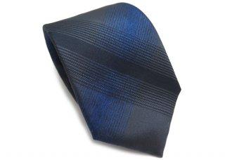 TINO COSMA (ティノコズマ)タータンチェック シルク ネクタイ(ブルー)(ネクタイ/タイ) - ブランド