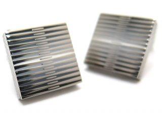 TATEOSSIAN(タテオシアン) チタニウムグラフィックエナメルカフス(ブラック・白蝶貝)(カフスボタン/カフリンクス) - ブランド