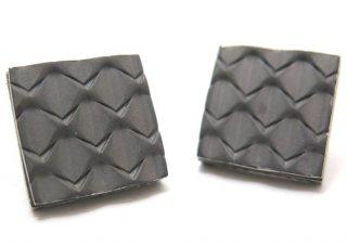 TATEOSSIAN(タテオシアン) チタニウムグリルカフス(オールメタル&オニキス)(カフスボタン/カフリンクス) - ブランド