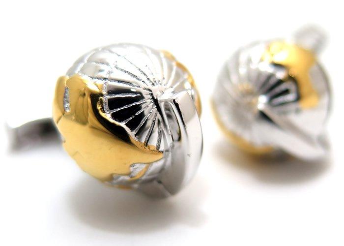 TATEOSSIAN(タテオシアン) 地球儀オーシャニックシルバーカフス(ロジウム&イエローゴールド)(カフスボタン/カフリンクス) - ブランドの画像