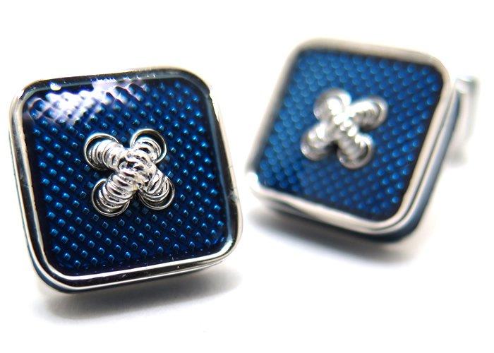 TATEOSSIAN(タテオシアン)エナメル ボタンアイスカフス(ブルー)(カフスボタン/カフリンクス) - ブランドの画像