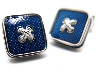 TATEOSSIAN(タテオシアン)エナメル ボタンアイスカフス(ブルー)(カフスボタン/カフリンクス) - ブランド