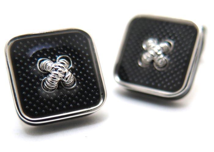 TATEOSSIAN(タテオシアン)エナメル ボタンアイスカフス(ブラック)(カフスボタン/カフリンクス) - ブランドの画像