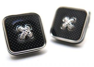 TATEOSSIAN(タテオシアン)エナメル ボタンアイスカフス(ブラック)(カフスボタン/カフリンクス) - ブランド