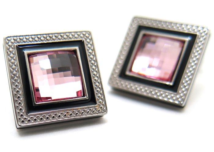 TATEOSSIAN(タテオシアン)クリスタル クアドラートロジウムスワロフスキーカフス(ライトローズ) 世界限定108セット(カフスボタン/カフリンクス) - ブランドの画像
