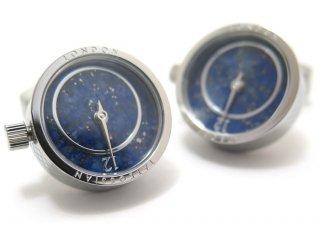 TATEOSSIAN(タテオシアン)メカニカル プレツィオーソ時計カフス(ロジウム&ラピス)(カフスボタン/カフリンクス) - ブランド
