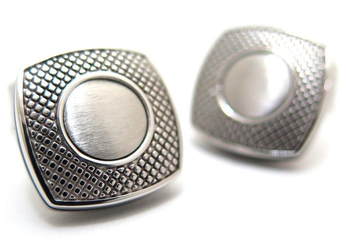 TATEOSSIAN(タテオシアン) ビジネス アルファスクウェアカフス(ロジウム)(カフスボタン/カフリンクス) - ブランドの画像