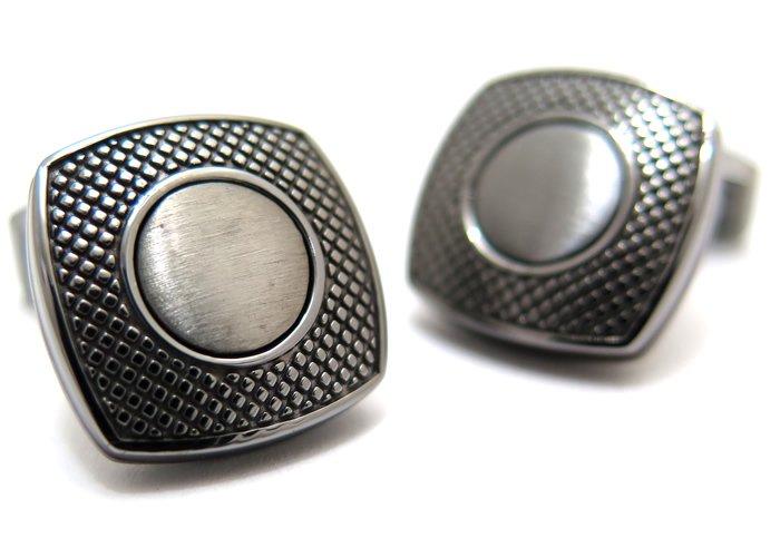TATEOSSIAN(タテオシアン) ビジネス アルファスクウェアカフス(ガンメタル)(カフスボタン/カフリンクス) - ブランドの画像