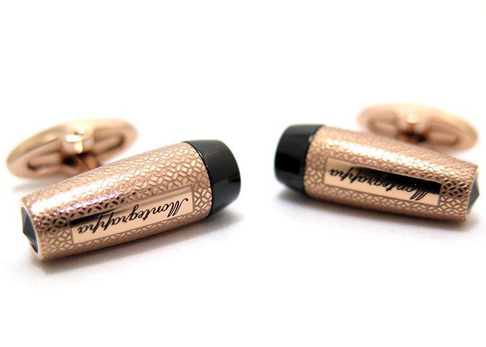 MONTEGRAPPA(モンテグラッパ) フォルトゥナカフス(IPローズゴールド、ブラック)(カフスボタン/カフリンクス) - ブランドの画像