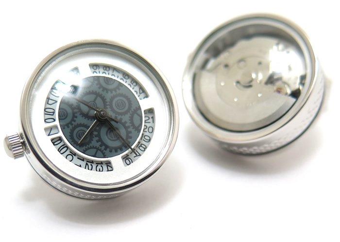 TATEOSSIAN(タテオシアン)メカニカル オートマティック時計カフス(ロジウム)(カフスボタン/カフリンクス) - ブランドの画像